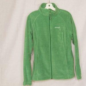 Green Columbia fleece jacket size large